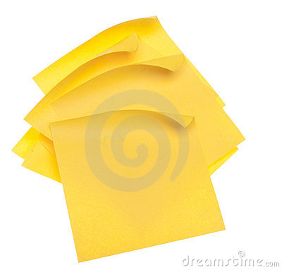 Stack of Yellow Sticky Notes