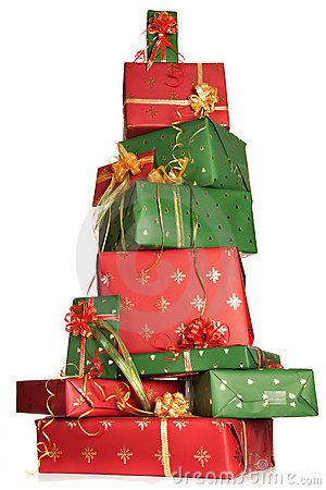 Free Stacked Christmas Gifts Royalty Free Stock Image - 10895686