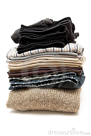 Free Stacked Clothes Royalty Free Stock Image - 4259876