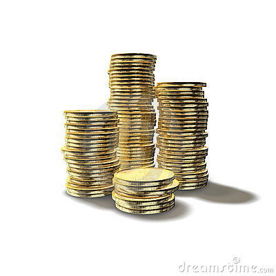 Free Stacked Coins Stock Photo - 15405250
