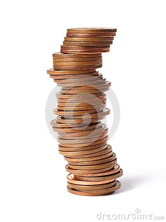 Free Stacked Coins Stock Photos - 27234073