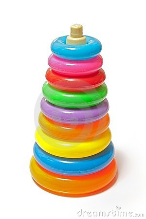 Stacked colorful toy