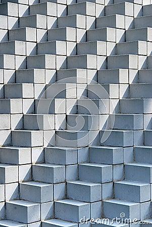 Free Stacked Concrete Blocks Stock Image - 20505431