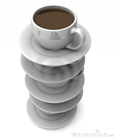 Stacked cups of coffee