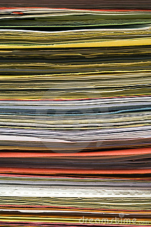 Stacked file folders background
