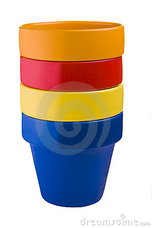 Free Stacked Flower Pots Royalty Free Stock Photo - 6622695