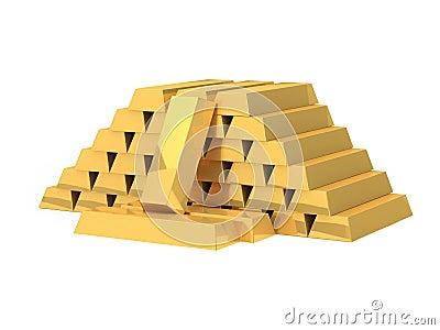 Stacked golden bars