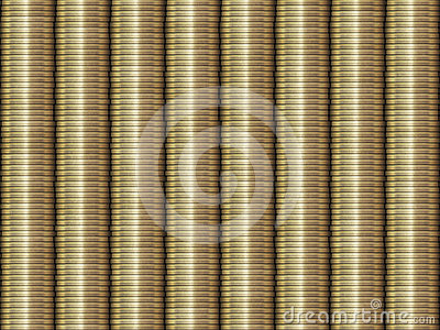Stacked Golden Coins Background