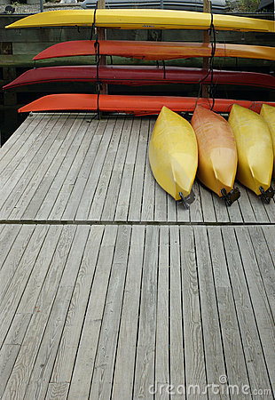 Stacked kayaks
