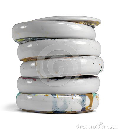 Stacked Paint Mixing Bowls Stock Photo Image 39519893