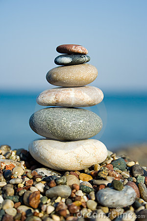 Stacked pebbles