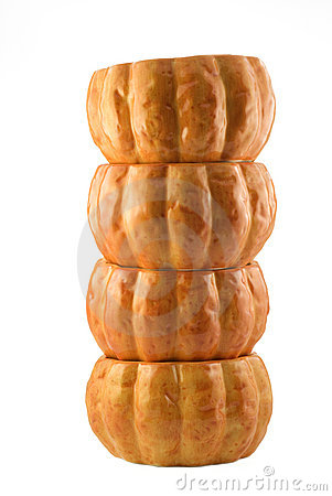 Free Stacked Pumpkin Bowls Stock Images - 10485284