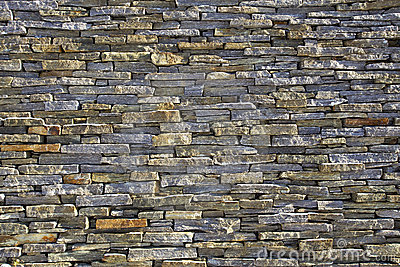 Stacked slate bricks wall texture