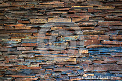 Stacked Stone Slate Wall