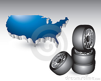 Stacked tires by the united states
