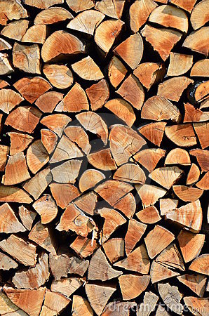 Free Stacked Wood Background Stock Photography - 19352072