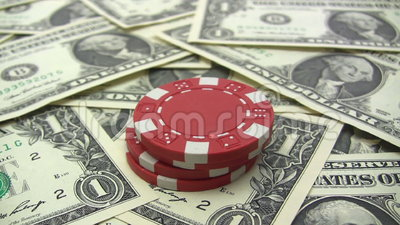 Stacking Red Poker Chips stock video