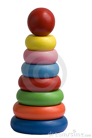 Stacking wooden rings toy