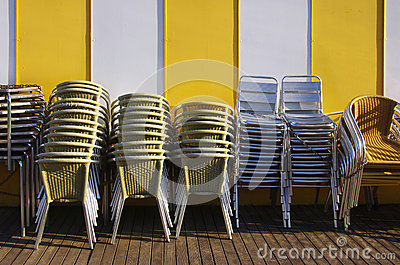 Stacks of Chairs and Tables