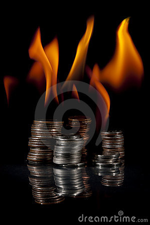 Stacks of Change on Fire