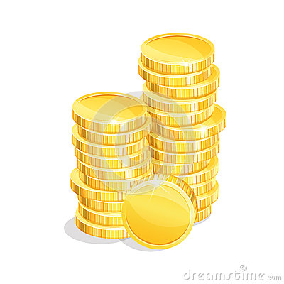 Free Stacks Coins Stock Images - 56806714