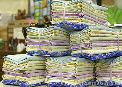 Stacks of Fat Quarters