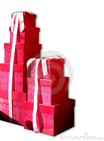 Stacks of gift boxes