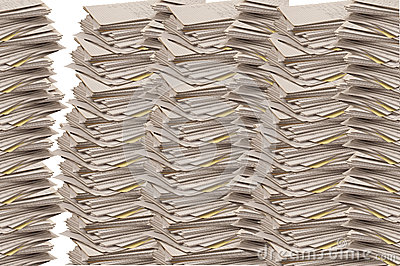 Stacks of Lined Paper Tablets