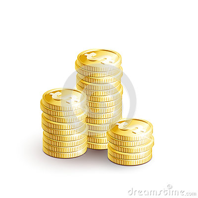 Free Stacks Of Golden Coins-01 Royalty Free Stock Images - 79300979