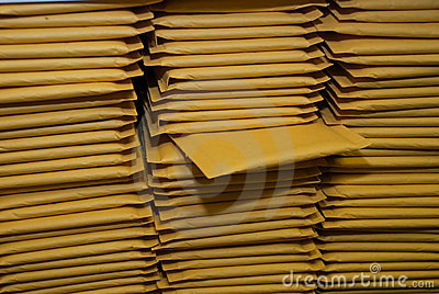 Stacks of Padded Shipping Envelopes