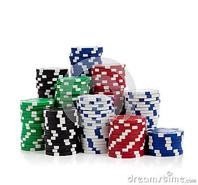 White poker chips