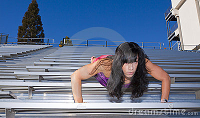 Stadium Bleachers Pushup