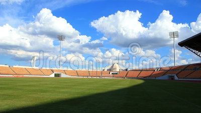 Stadium, cloud and shadow moving. Time lapse ,stadium or football field, cloud and shadow moving, HD clip stock video