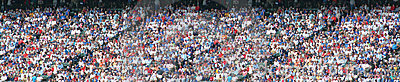 Stadium Crowd Panorama Editorial Stock Photo
