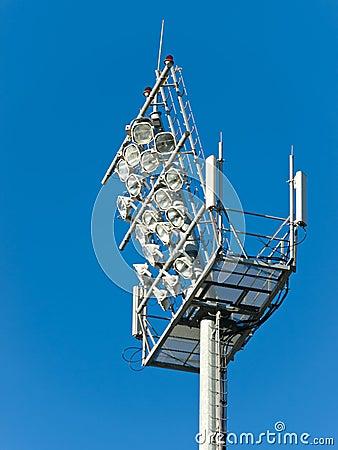 Stadium floodlight tower