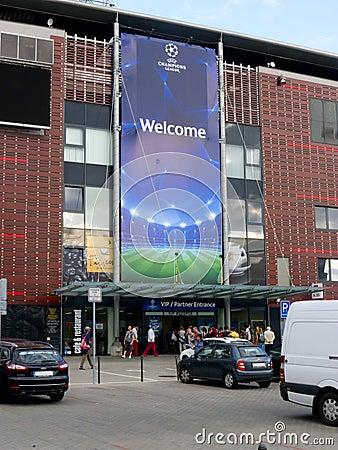 Stadium Before Football Champions League Match Editorial Photo
