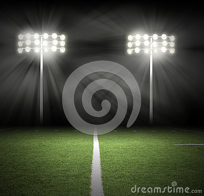 Free Stadium Game Night Lights On Black Royalty Free Stock Photography - 30324627