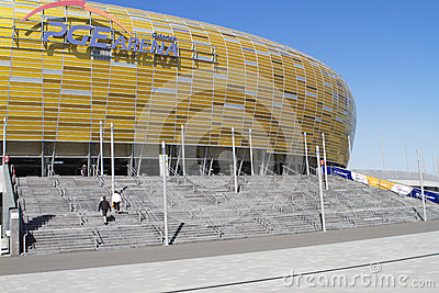 Stadium in Gdansk Editorial Stock Photo