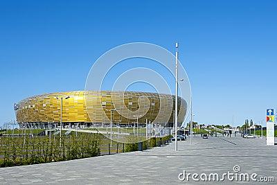Stadium in Gdansk UEFA EURO 2012 Editorial Stock Photo