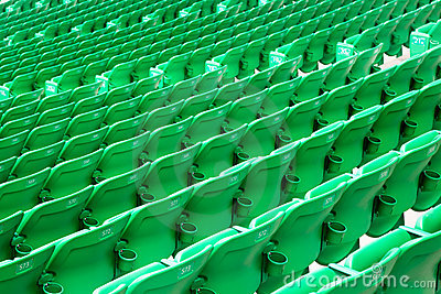 Stadium green seats