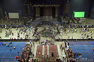 Stadium hall after performance show concert