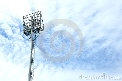 Stadium light poles