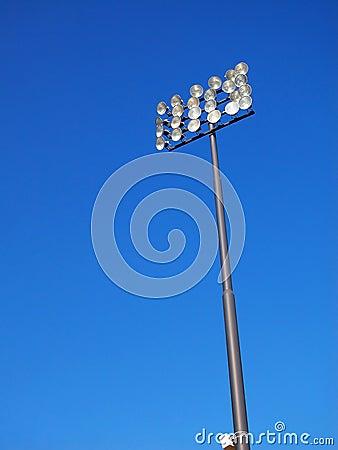 Stadium Lighting-Blue Sky Royalty Free Stock Photography ...