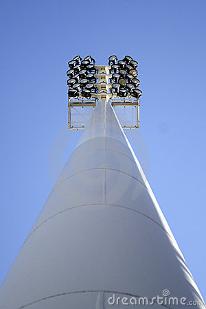 Stadium lights tower