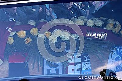 Stadium Picchi in Livorno corpse Morosini Editorial Photography