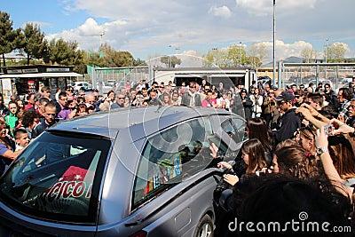Stadium Picchi in Livorno corpse Morosini Editorial Image