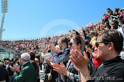 Stadium Picchi in Livorno corpse Morosini Editorial Stock Image