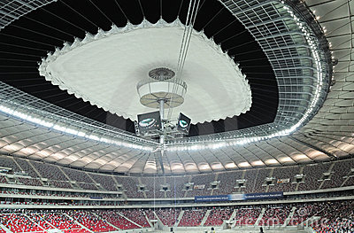 Stadium roof Editorial Stock Image