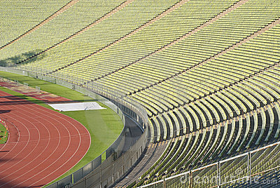 Stadium Seating with Athletic Track