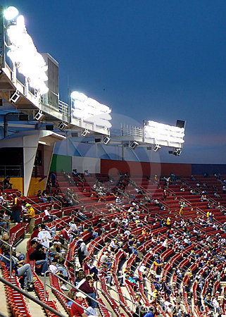 Stadium seating at Night Game
